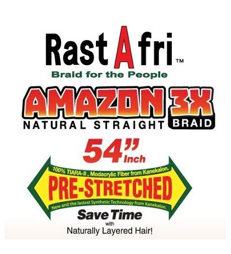 """Ombre Mix Naturalny Czarny - Różowy  """"AMAZON 3x Braid Pre Stretched"""" - Włosy Syntetyczne RastAfri"""