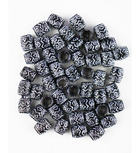 Plastikowe Wzorek Czarne -...
