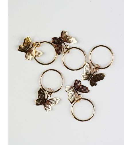 Kółeczka Motylki Złote -...