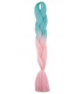 S2-141 Tropikalny Niebieski - Jasny Różowy  - Włosy Syntetyczne Magfactory Henlon