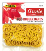 Żółte  - Gumki 300 Sztuk - Annie