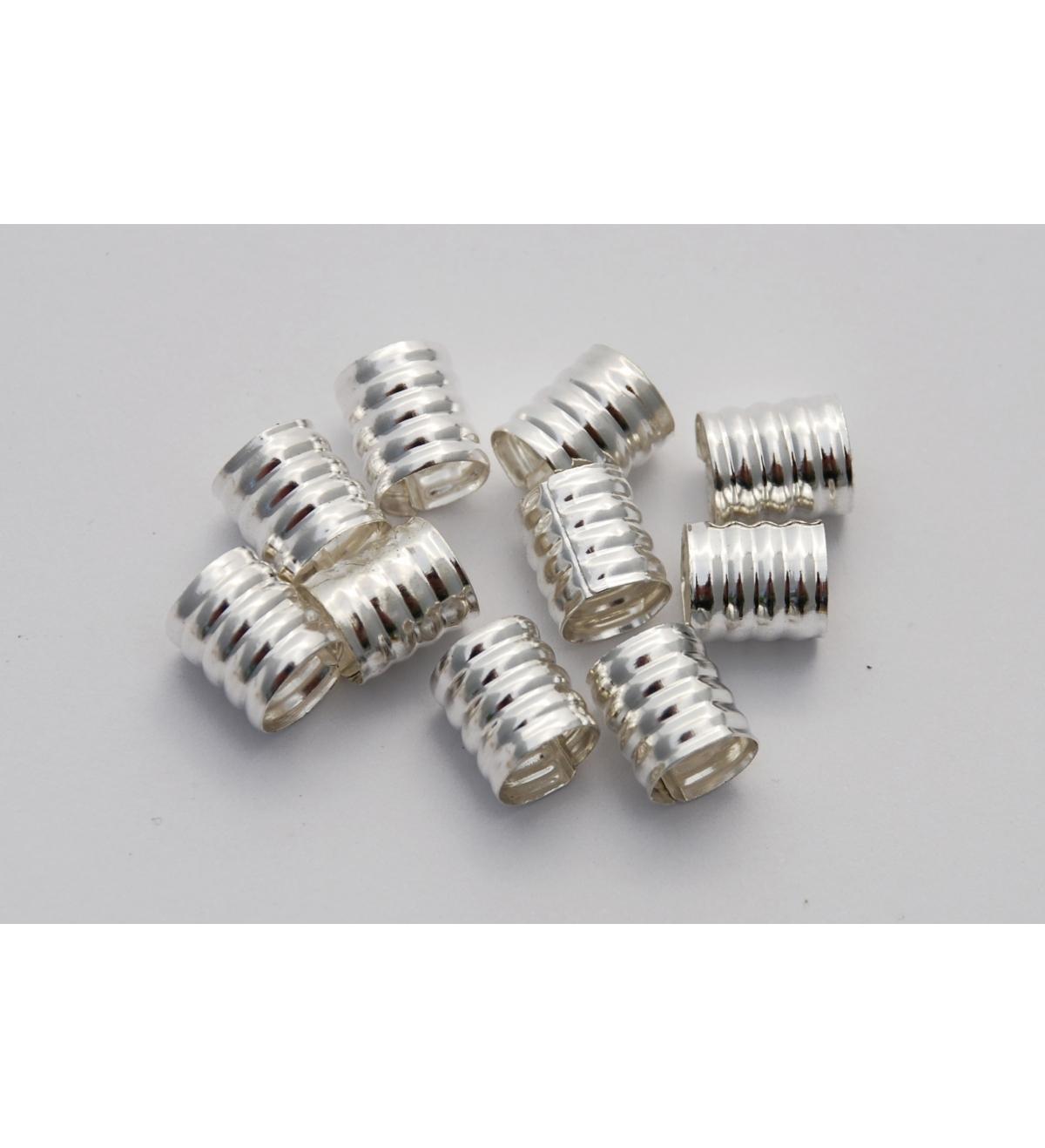 Obrączki Srebrne - Metalowe Koraliki Do Włosów 10 sztuk