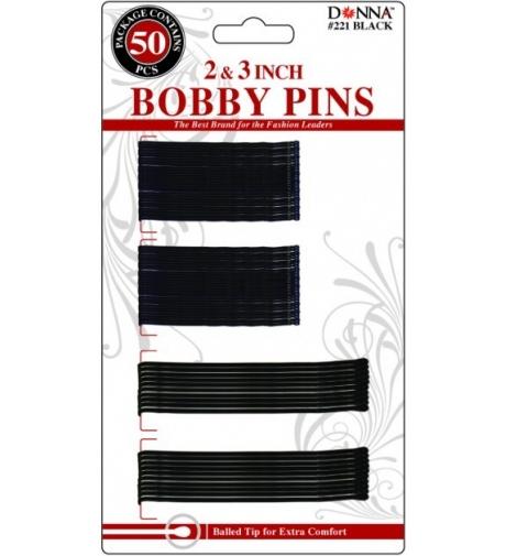 Czarne Wsuwki do włosów Metalowe 50 sztuk  - Donna