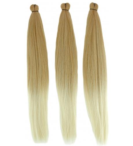 """Ombre Mix Miodowy Blond - Słoneczny Blond """"AMAZON 3x Braid Pre Stretched"""" - Włosy Syntetyczne RastAfri"""