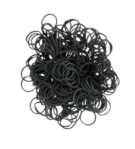 Czarne - Gumki 250 Sztuk