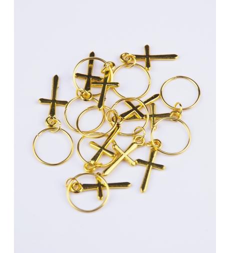 Kółeczka z Krzyżykiem Złote...